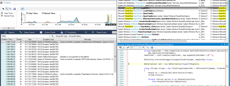 .NET exception tracer and profiler
