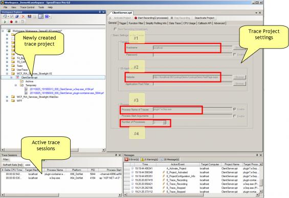 Trace project activation - ClientServer