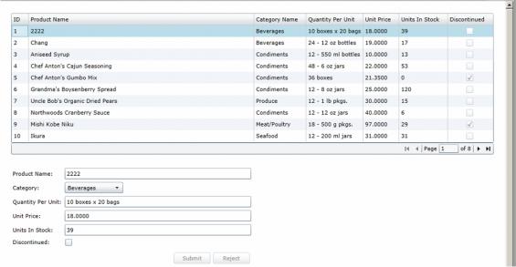 Trace scenario - Silverlight client